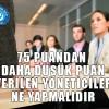 75 PUANDAN DAHA DÜŞÜK PUAN VERİLEN YÖNETİCİLER NE YAPMALIDIR