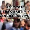 2017-2018 EĞİTİM-ÖĞRETİM YILI SANCILI BAŞLIYOR
