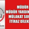 Yönetici Atama Mülakat Sonuçlarına İtiraz Dilekçesi